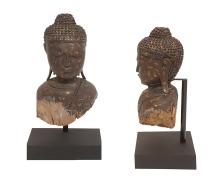 Wood buddha head8213