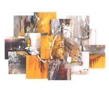 Grey &gold abstract17512