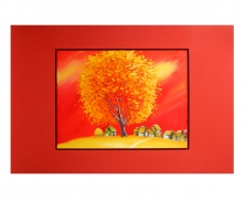 Orange red tree19513