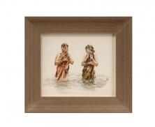 2 ladies watercolor 616
